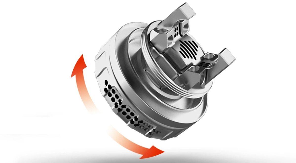 Le Blotto RTA de Dovpo promet du lourd. Un atomiseur en single et double coil avec un Airflow qui offre une grande polyvalence.