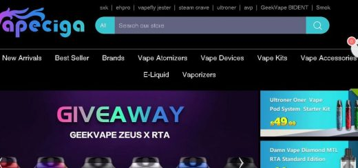 Our review on the chinese vaping site Vapeciga. Many products, good prices and good responsiveness from the staff.