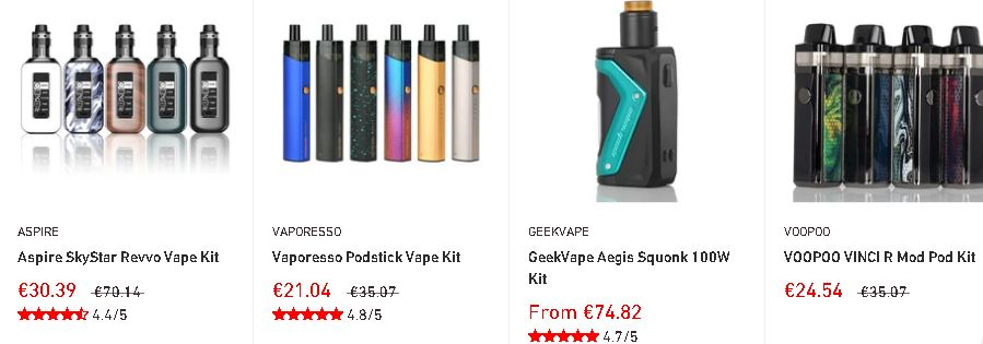 NewVaping propose à la fois des cigarettes électroniques et des liquides. Etant basé en Angleterre, les livraisons sont assez rapides avec des prix plus qu'abordables.