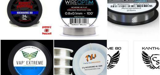 Dans cet article, je propose les meilleurs marques pour les fils résistifs. C'est surtout destiné pour les coils builders et les vrais passionnés.