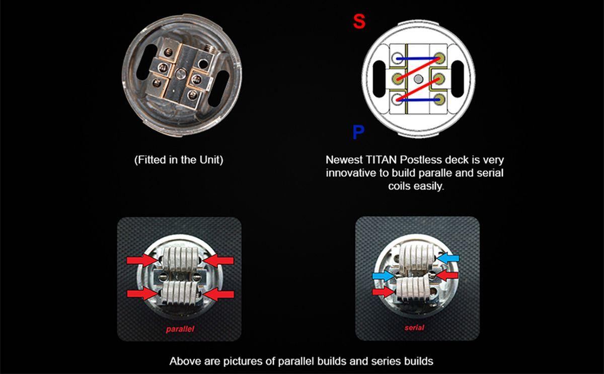 La seule différence de l'Aromamizer Titan V2 par rapport à la V1 est l'arrivée du plateau pour les coils en série. Mais le Titan reste le Titan !