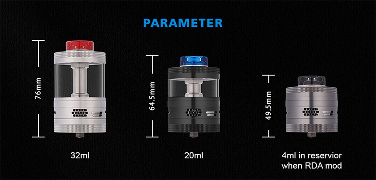 The only difference of the Aromamizer Titan V2 compared to the V1 is the arrival of the deck for the coils in series. But the Titan remains the Titan!