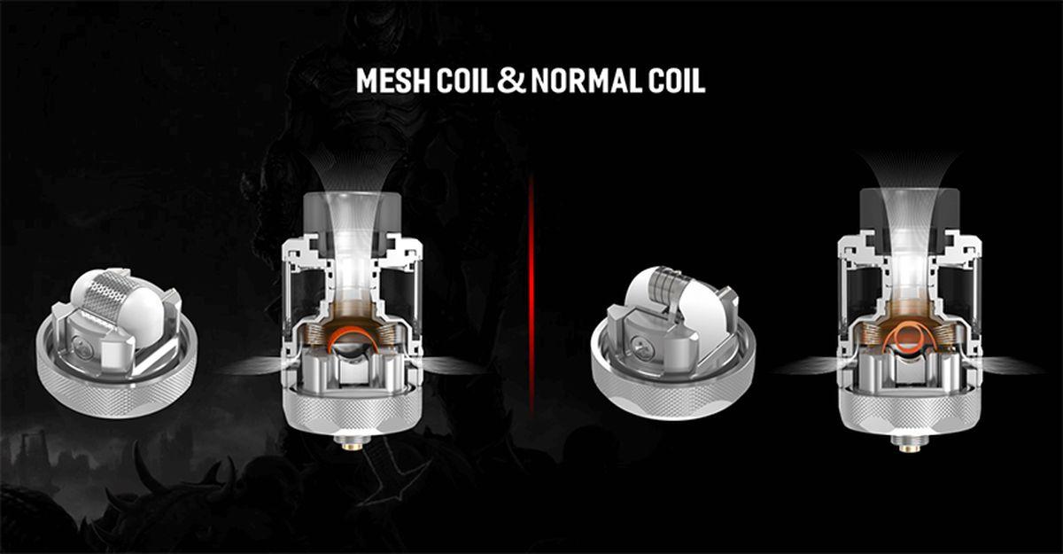 Damn Vape nous propose le RTA Doom X qui peut utiliser du Mesh et des coils. Ne serait-ce pas un copié-collé des atomiseurs de Steam Crave ?