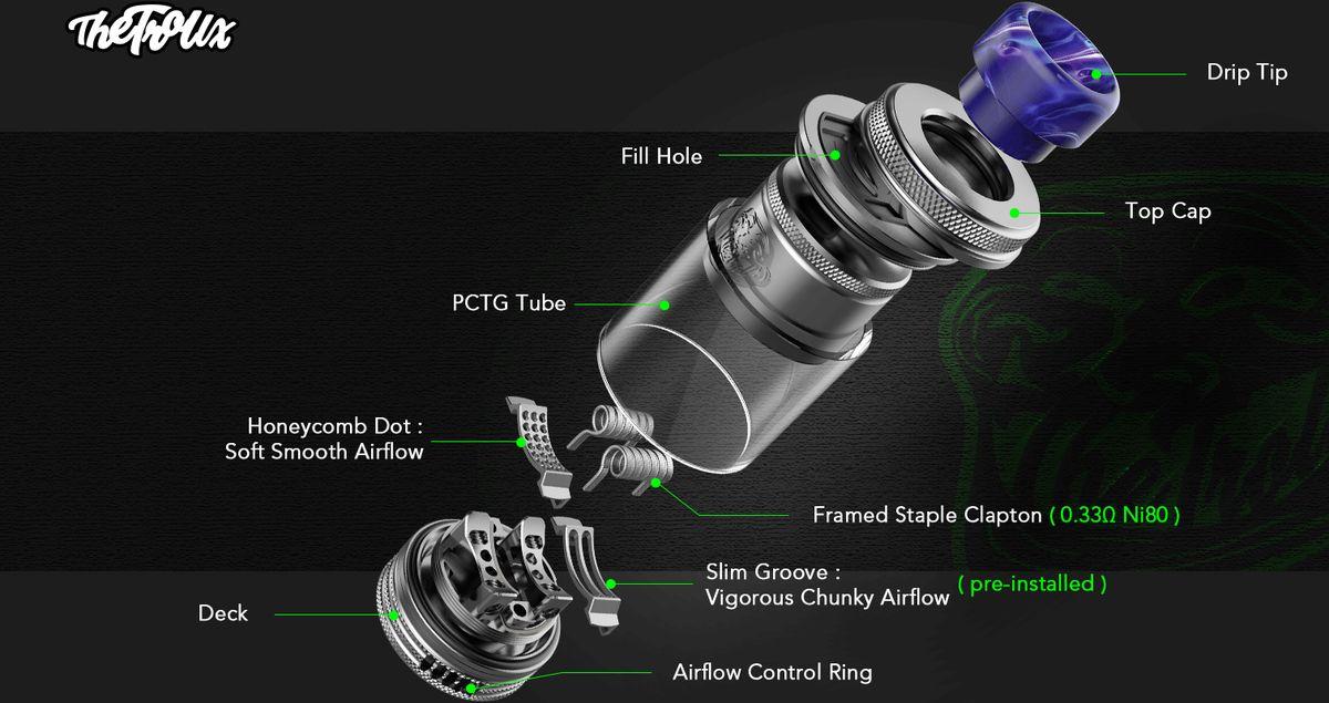 Le RTA Troll X de Wofoto nous propose des Airflows différents selon le type de vape qu'on souhaite. Petite mise à jour ou grosse innovation ?